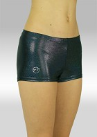 Hotpants wetlook metallic schwarz S758zw